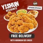 texas chicken yishun free delivery promotion